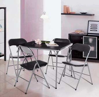 iKayaa 5PCS Kitchen Dining Table Chair Set