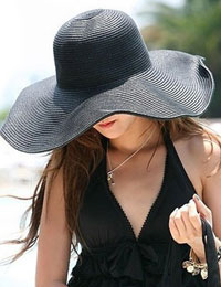 Summer Straw Beach Brim Hat