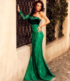 One Shoulder Mermaid Evening Dress