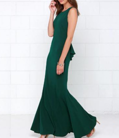 Backless Party Evening Maxi Dress