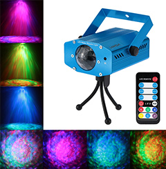 10W Color Changing Mini LED Water Wave Ripple Effect Stage Light