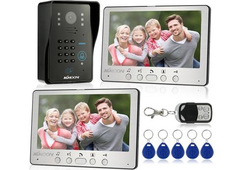 """7 """"verdrahtete videotür-Telefon-System-Sicht Wechselsprechanlage-Türklingel"""