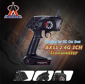 AUSTAR AX5S 2.4G 3CH AFHS Radio Transmitter