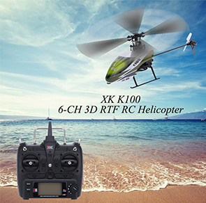 XK Falcon K100 6CH 3D 6G System RTF RC Helicopter