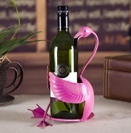 TOOARTS Flamingo Metal sculpture wine holder