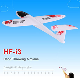 HF-i3 T-Shaped Tail EPP Hand Throwing Glider Airplane Outdoor Aircraft