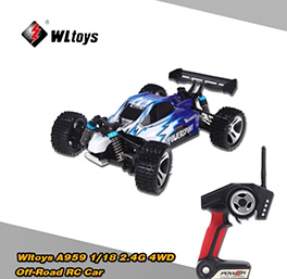 Wltoys A959 1/18 2.4G 4WD Off-Road Buggy RC Car RTR