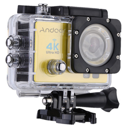 Andoer Q3H 1080p Wifi Cam FPV Video Ausgang 16MP Action Kamera 170° Weitwinkel-Objektiv gelb