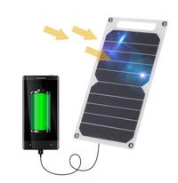 Solar Charger 10W Portable Ultra Thin Monocrystalline Silicon Solar Panel