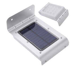Solar Power Motion Sensor 16 LEDs Water-resistant Wall Lights