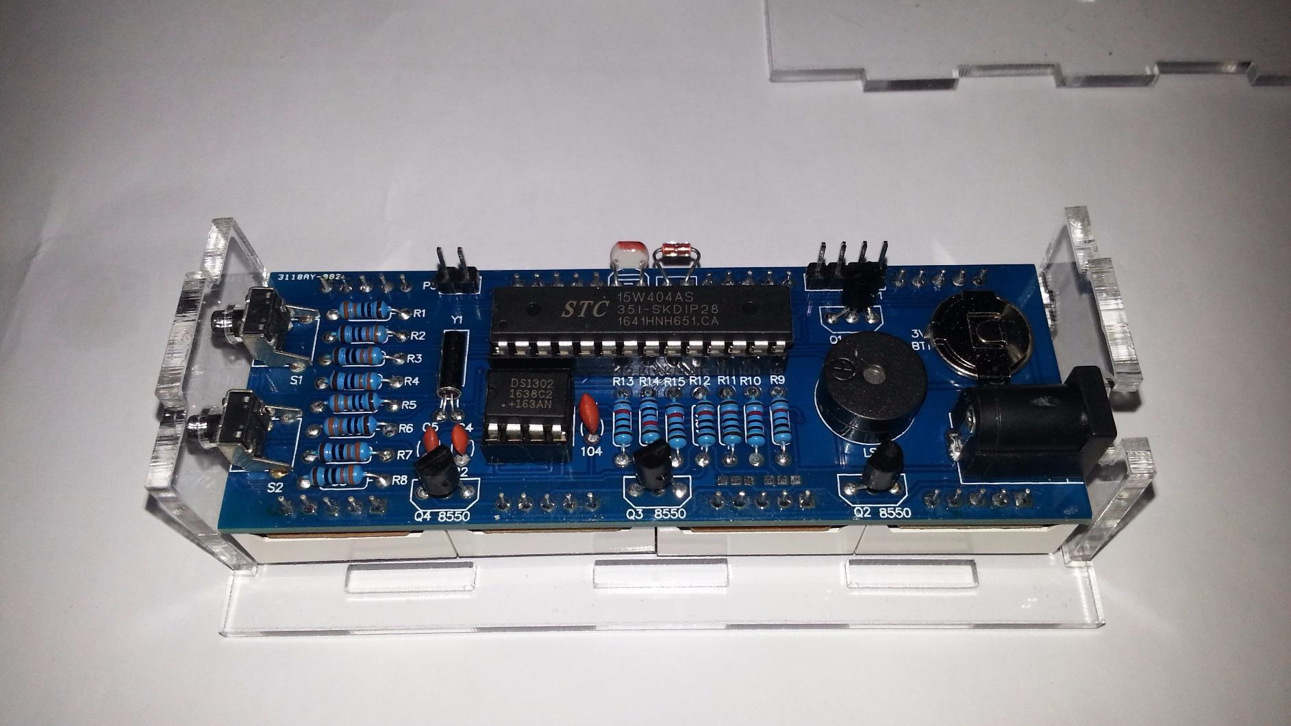 compact 4 digit diy digital led clock kit light control. Black Bedroom Furniture Sets. Home Design Ideas