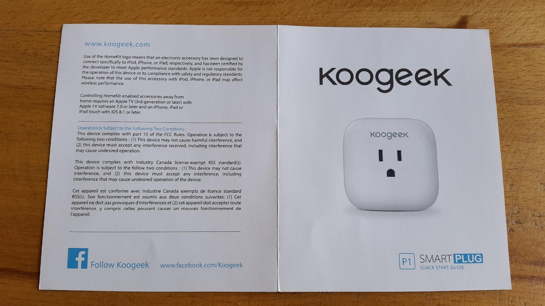 Koogeek Wi Fi Enabled Improved Smart Plug Works With Apple Homekit To Legally In Canada Add 240v Power Outlet From Stove Is This Helpful 1 0