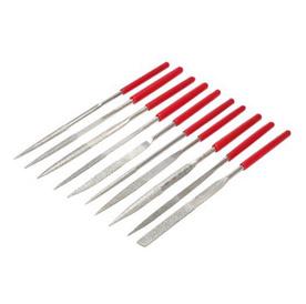 10Pcs Polishing Flat Needle Files Set