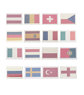 ANSELF 10pcs/set National Flag Temporary Tattoos Body Face Tattoo Sticker Patriotic Tattoos 16 Countries Optional
