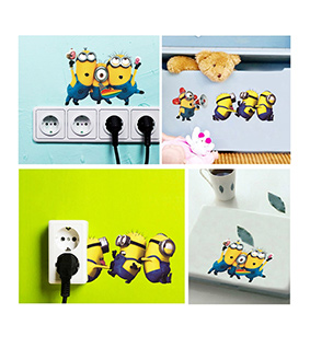 Cartoon Lovely Minions Despicable Me Removable Wall Stickers DIY Kid's Child Room Decor Decal