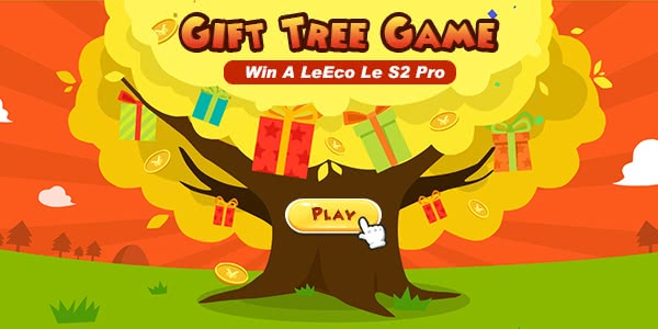 Gift Tree Game on Tomtop,Win a Phone