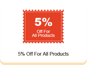 5% Off For All Products