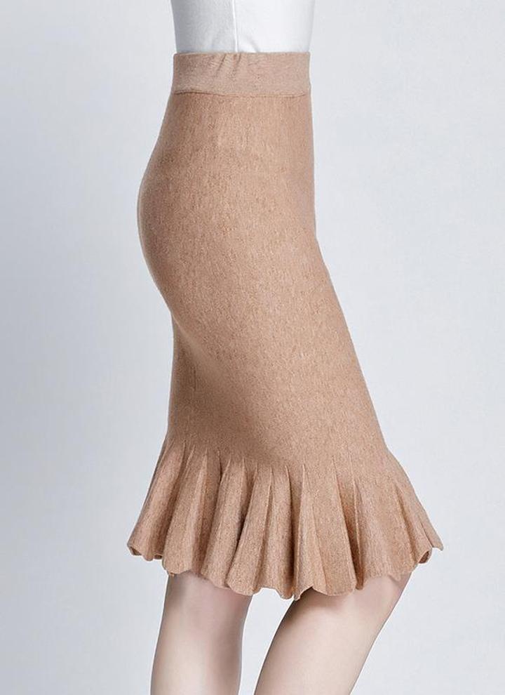 Femme élastique taille haute Polka Dot moulante Crayon Jupes