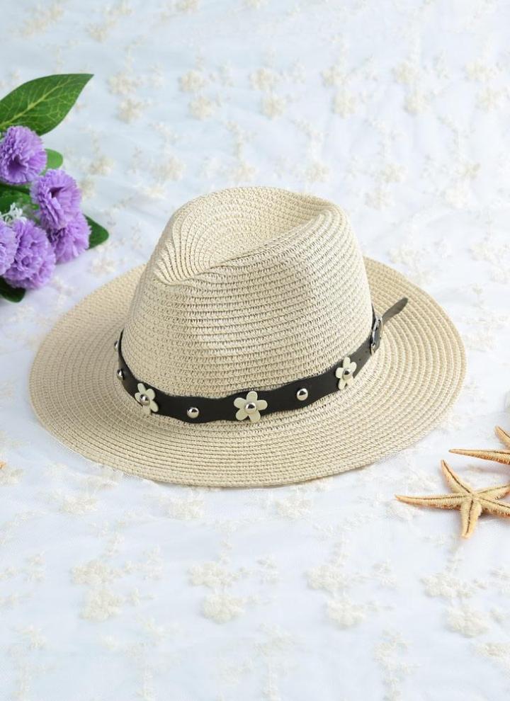 Chapéu cor cáqui bege do verão praia de chapéu de palha e7b9c7d4b2f