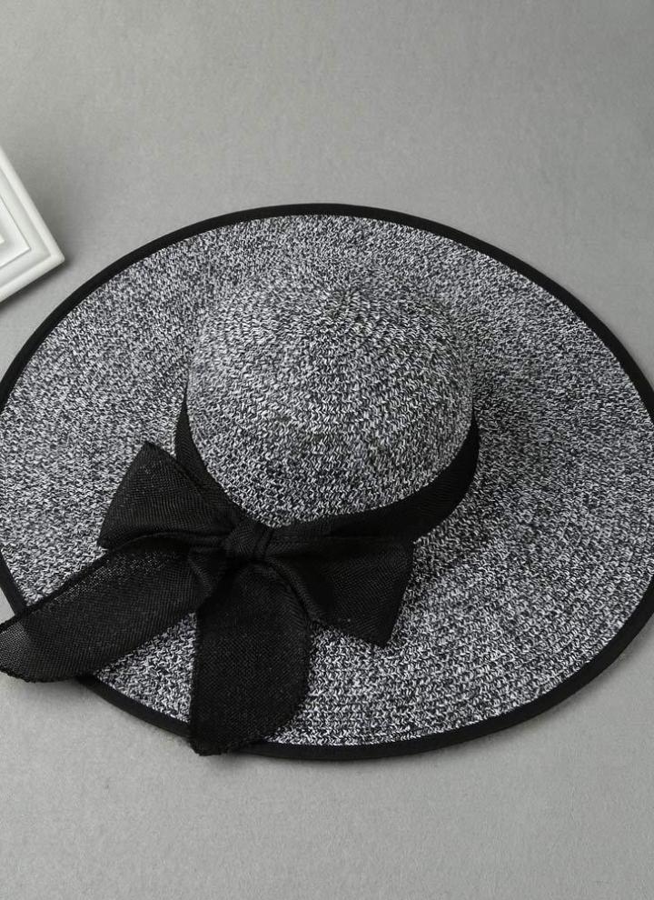 87ab0427bb8 Fashion Straw Solid Wide Brim Self Tie Summer Panama Women s Hat