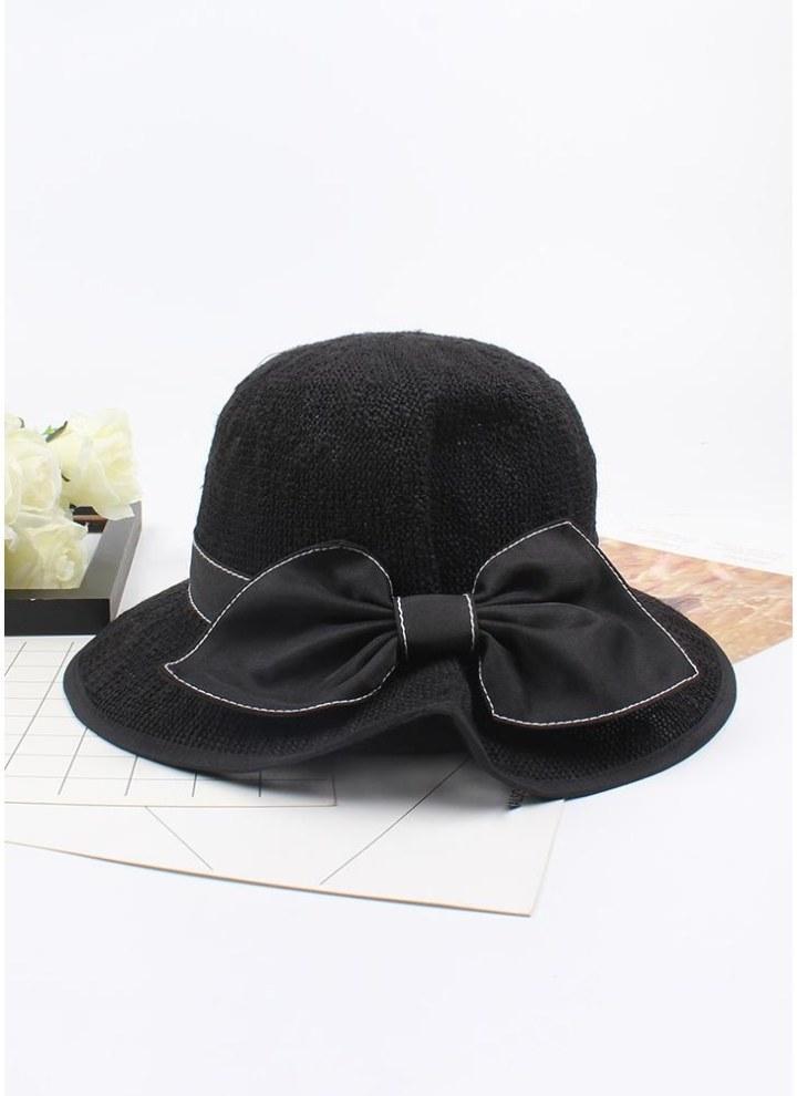 New Fashion Women Sun Cappello di paglia Bowknot Wide Brim Outdoor  pieghevole Beach Shade Hats b840a2d3b9e8