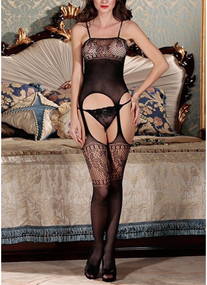 6314f888b0 Mujer Lencería Body Medias Malla Entrepierna abierta Malla Transparente  Erótico Body Ropa de dormir