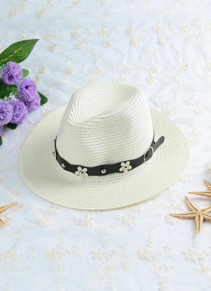 Sombrero Color sólido de color caqui Beige de verano playa de sombrero de paja  sombrero 47e0da8a0db