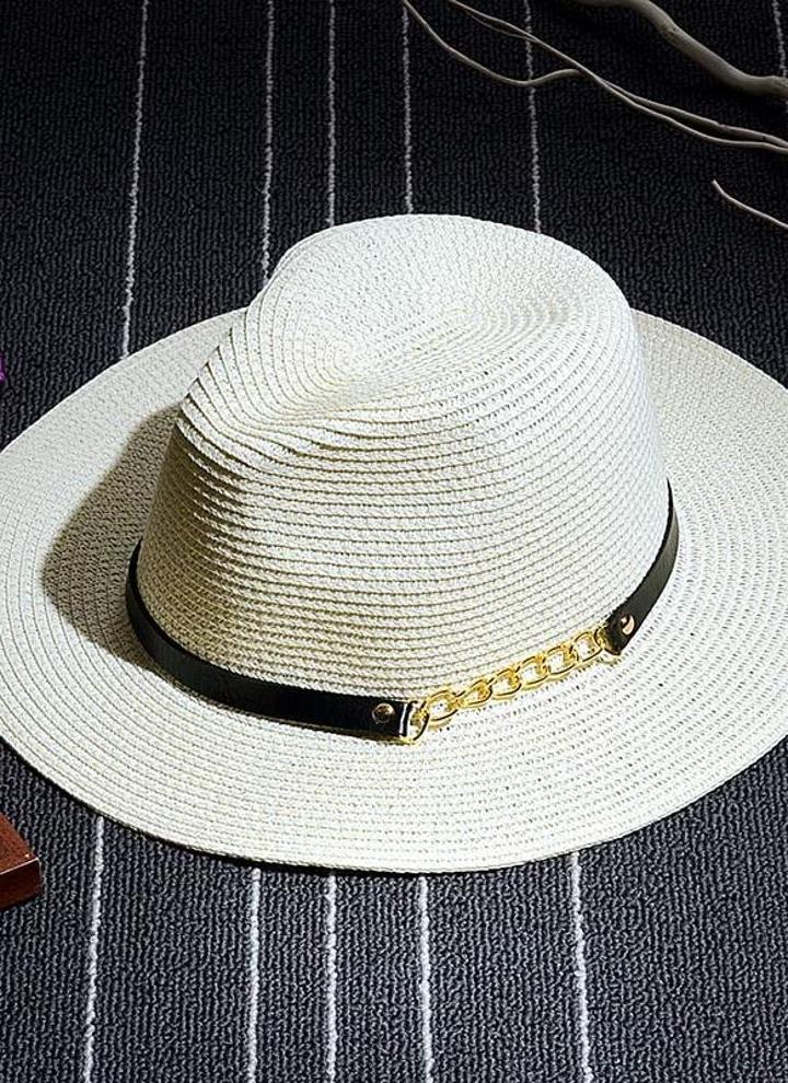 Playa verano paja sombrero mujer moda Floppy Hat Sombrero Alón Color sólido  Beige caqui b2dad8a7526