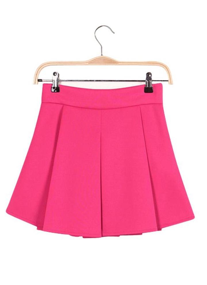 s rosa Nueva moda mujer falda plisada cintura acampanados vestido ...