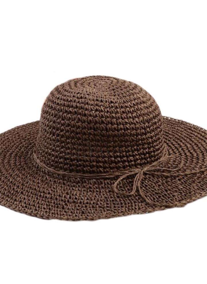 Estate cappelli Donna Floppy Spiaggia Cappello Fiore grande Wide orlo PAGLIA DONNA POLIESTERE