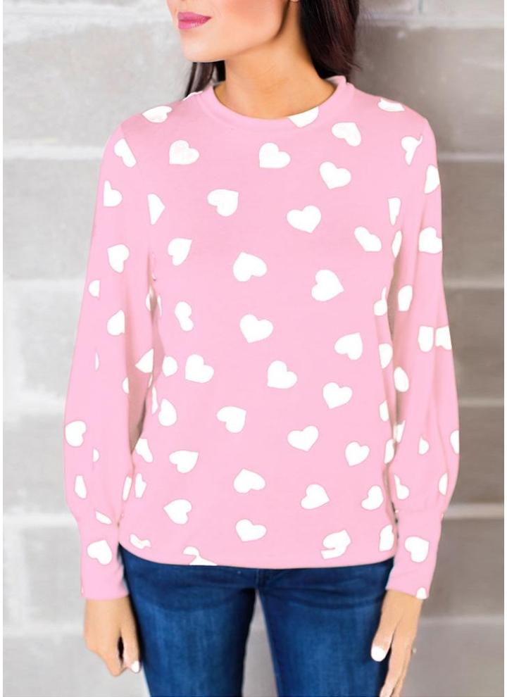5f10924efc964 Blusa de mujer con estampado de flores de cuello alto de manga larga  camiseta casual Tee