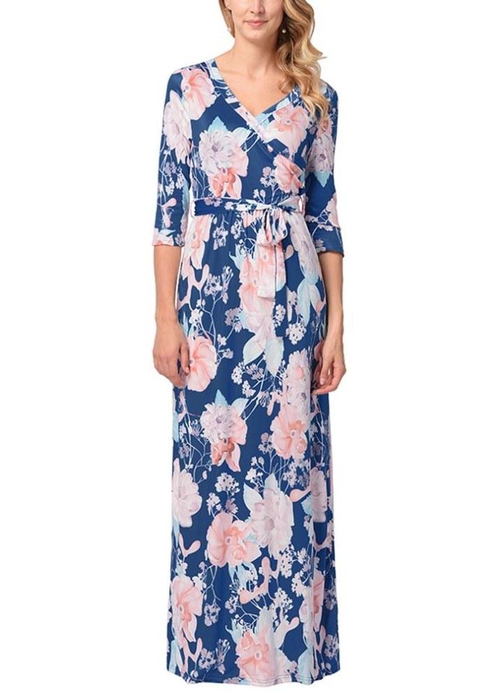 14 Femme Floral Manches 3//4 robe imprimée-Taille 10 12 16