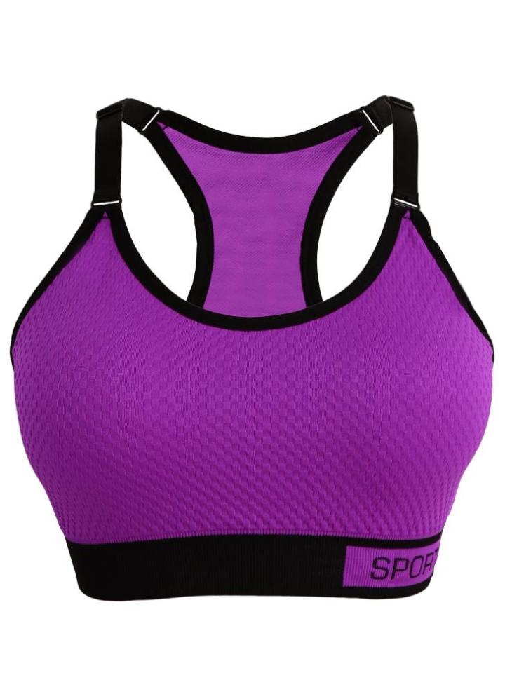 5bea14dadd91d purple l Adjustable Straps Detachable Pads Active Top - Chicuu