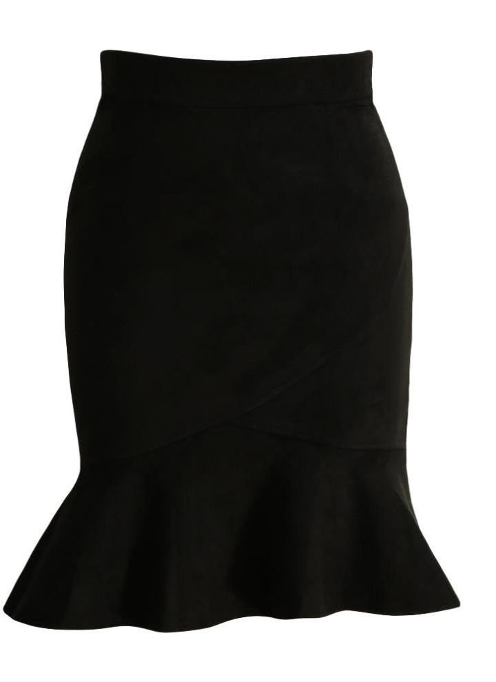 878a7e7bd Nueva elegante ante de las mujeres de la falda de la colmena de la sirena  de la alta cintura de la vendimia de muy buen gusto ajustado de la falda ...