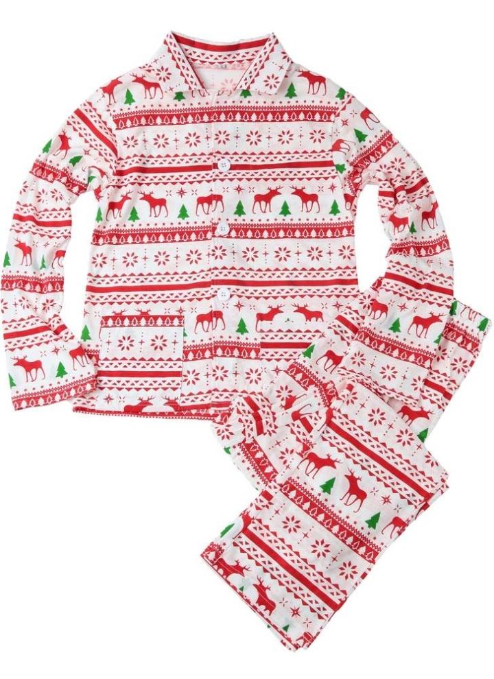 m Neue Frauen-Zwei-teiliges Set Pyjama Weihnachten Nachtwäsche Turn ...