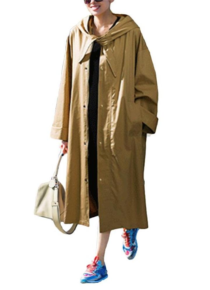 best website c1395 81465 Moda Donna Cappotto Trench coat manica lunga Solid Street Capispalla  Cappotto lungo