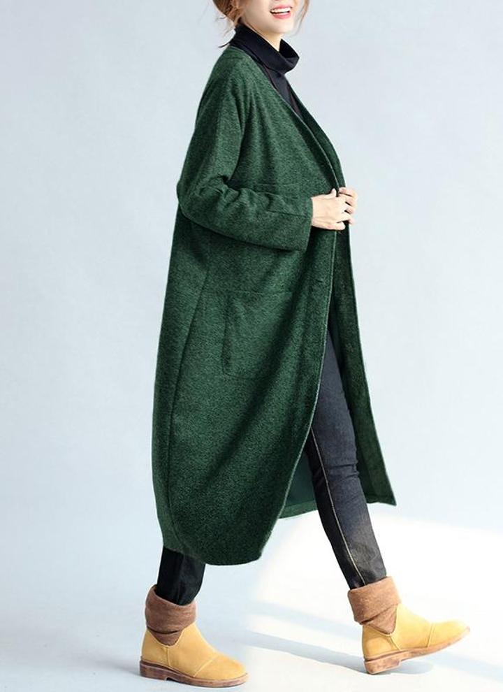 0a8d92852a New Mulheres casaco de lã mangas compridas Botão Encerramento Pockets  Outwear