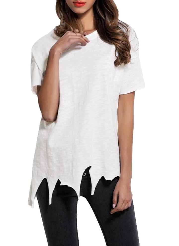 Puppen & Zubehör Art und Weise weißes beiläufiges kurzes Hülsen-T-Shirt Oberseite für