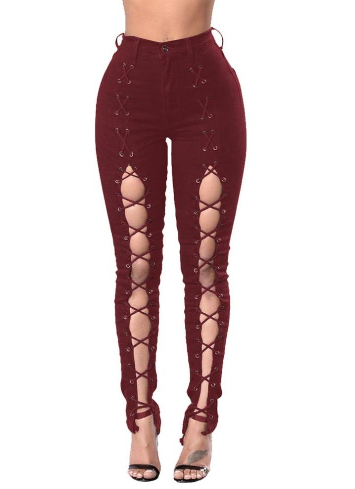 e33f476f0ef7 Модные джинсовые вышитые кружевные карманы с застежкой-молнией Тонкие  женские ...