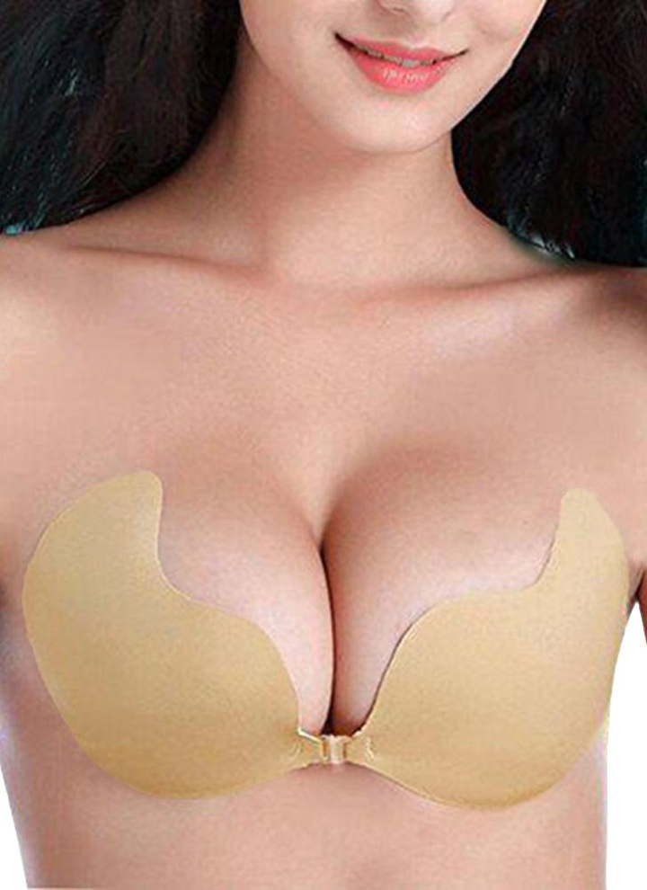 37900d80f9 Sexy Silicone Adhesive Invisible Strapless Stick Gel Push Up Women s Bra