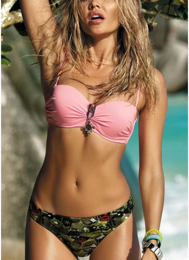 8987fc171632 Conjunto de bikini sexy acolchado estampado para mujer