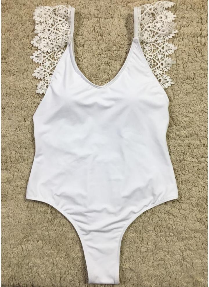 Dos-nu Monokini Maillot de bain Swimsuit Femmes Maillots Or Noir Blanc Argent