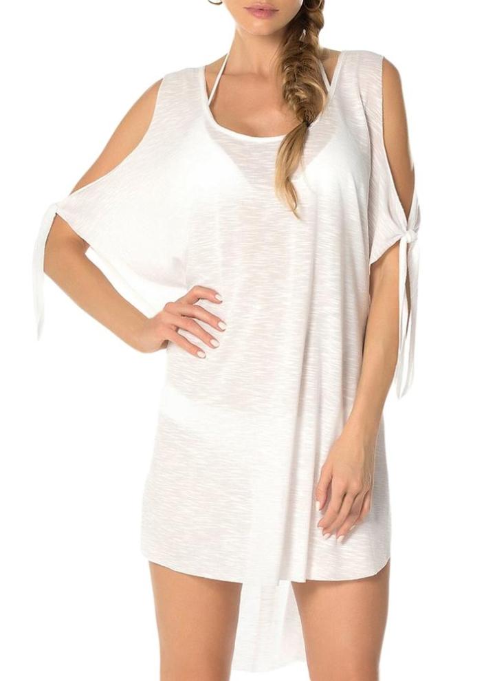 Superposé tunique long-shirt robe en mousseline de soie 44 46 48 50 52 54 56 58 L-XL-XXL-XXXL