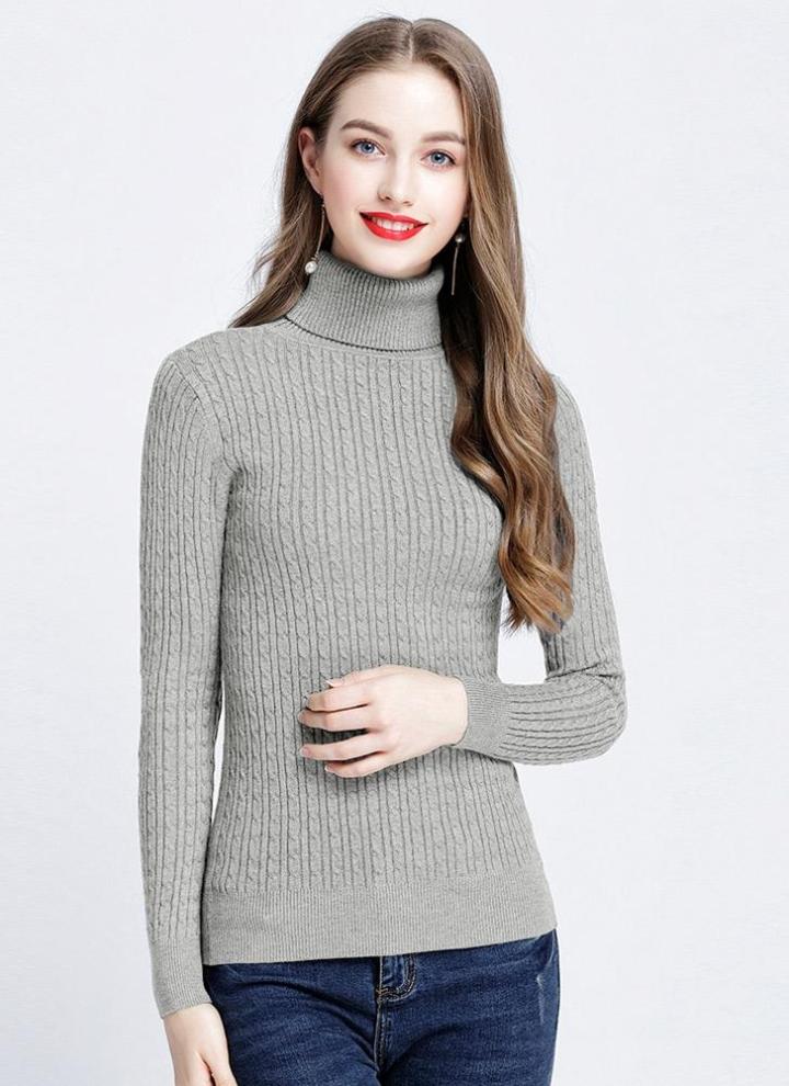 5ec4f2af93 Moda donna Solid Twist maglia maglione