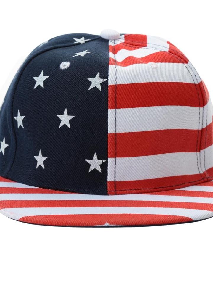 Nuovo Donne Uomini Cap American Flag USA Lettera Stampa Hip-Pop Snapback  piatto cappello berretto d77147bcc4fd