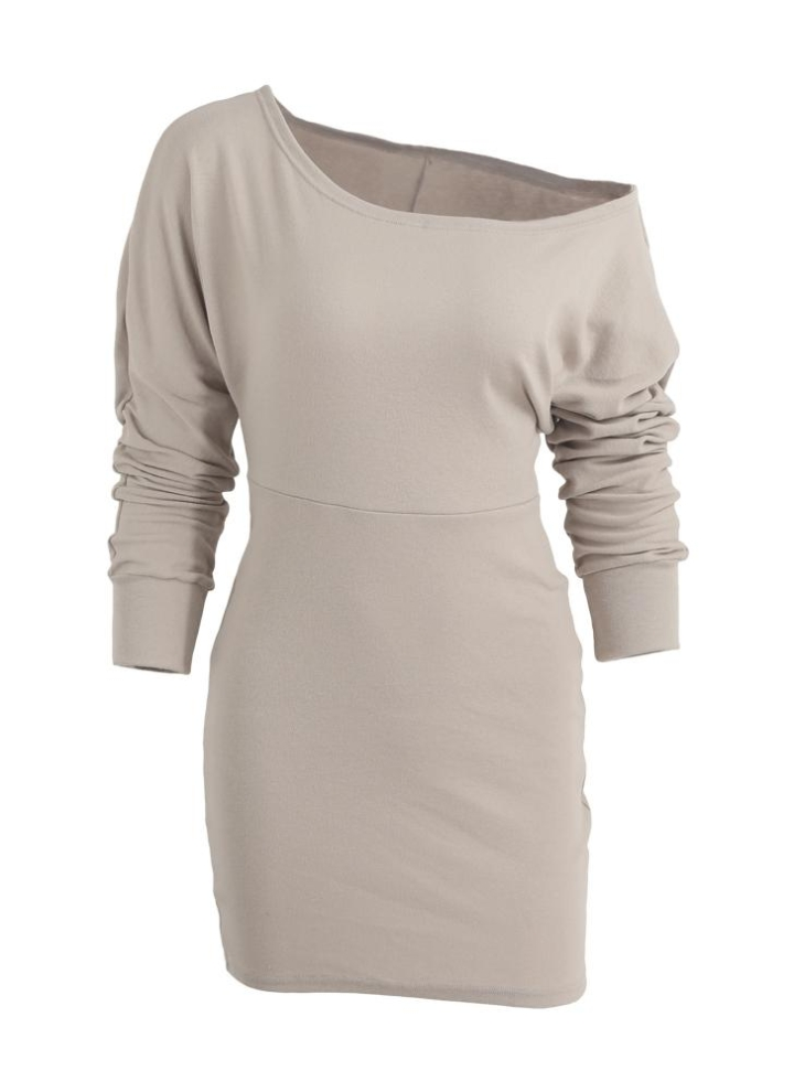 Slash neuer Herbst-Winter-Frauen Sexy figurbetontes Kleid weg vom Schulter -Hals- 46bf1c53dd