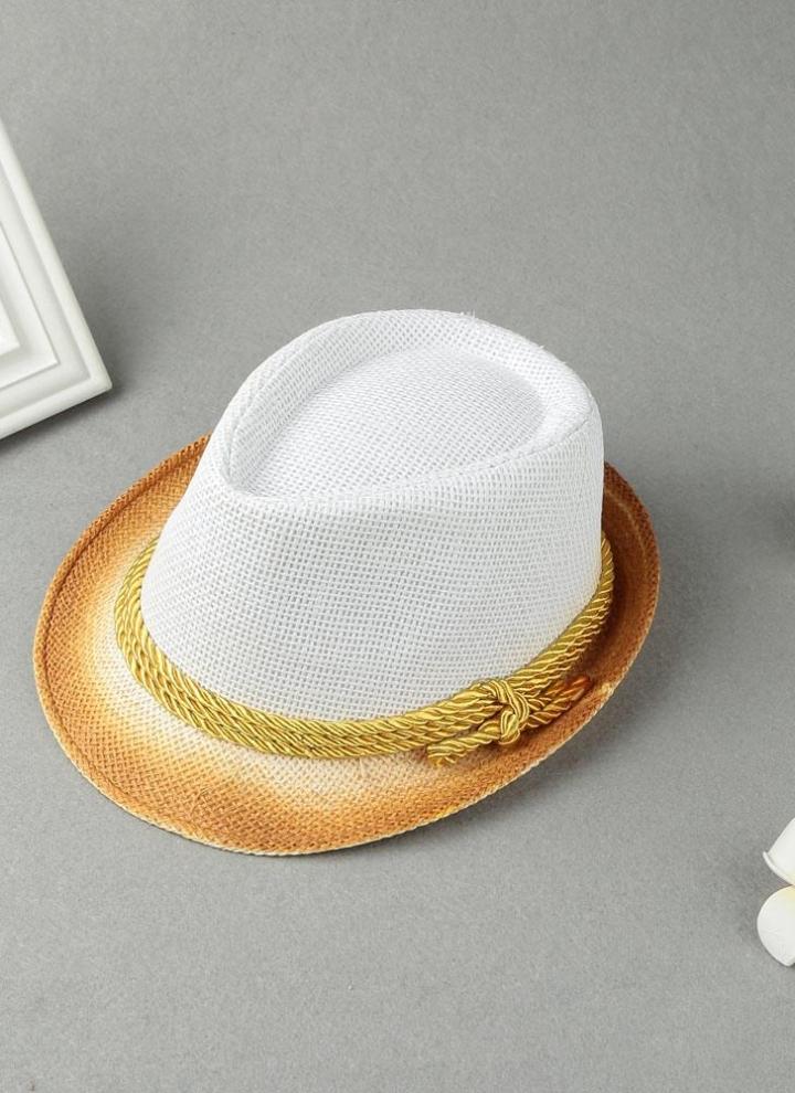 f855e5cf299ff Mujeres de la manera Sombrero de sol del color del contraste de paja de ala  estrecha