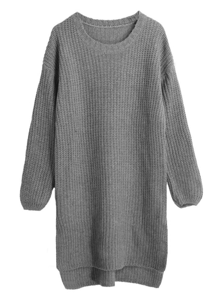 À Femmes Verticales O Tops Long Tricot Rayures Knitting Plongeant Cou Nouveau Ourlet En Lâches Chaud Pull yf6gIvb7mY