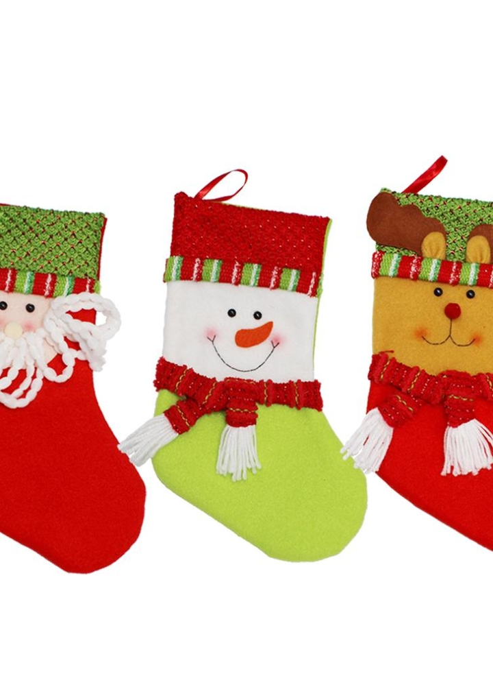 3pcs set Christmas Hanging Stockings Santa Snowman Reindeer Gift Candy Bags  Christmas Decoartions Ornaments 003fd2706670
