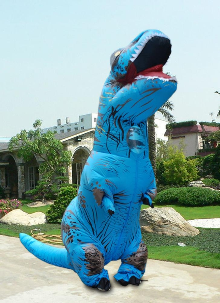 Funny Inflatable Dinosaur Trex Costume Suit Air Fan Operated Blow Up  Halloween Cosplay Fancy Dress Animal 7ab752a2d573
